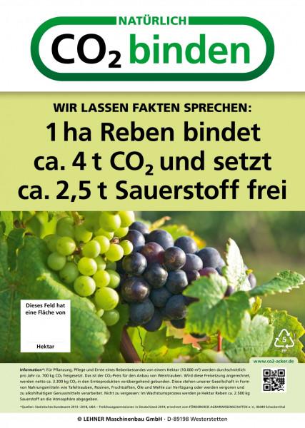 Werbeschild CO²-Kampagne Reben (Größe 60 x 84 cm)